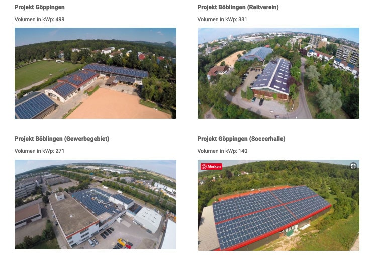 referenzen photovoltaik investment